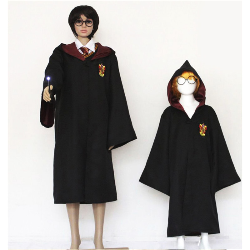 Parent-child Harry's Cloak Magic cosplay clothes Gryffindor school uniform Halloween family Harry Potter Magic Robe COS Clothing