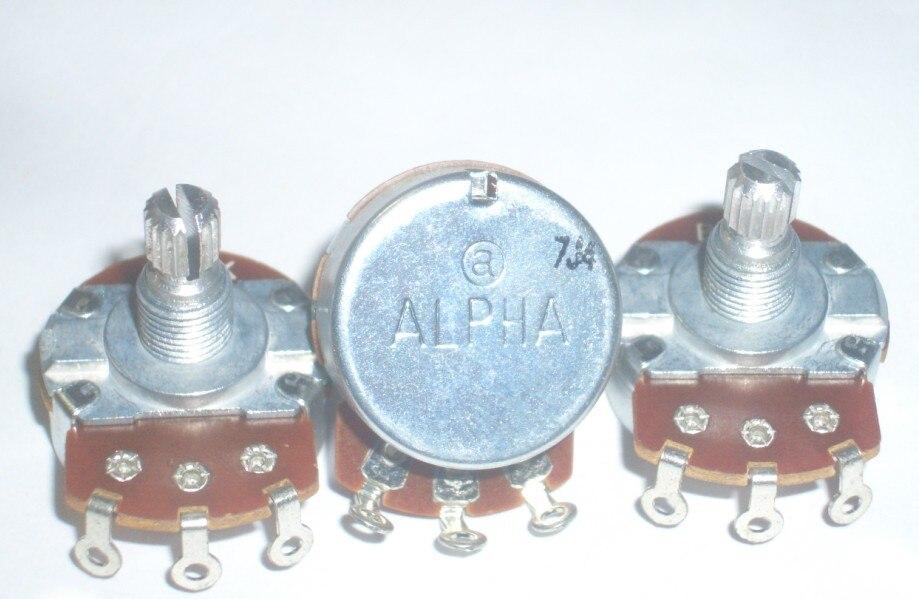 Fast Free Ship 5PCS For ALPHA 24 Type B25K B250K A500K B1M A1M Guitar Potentiometer