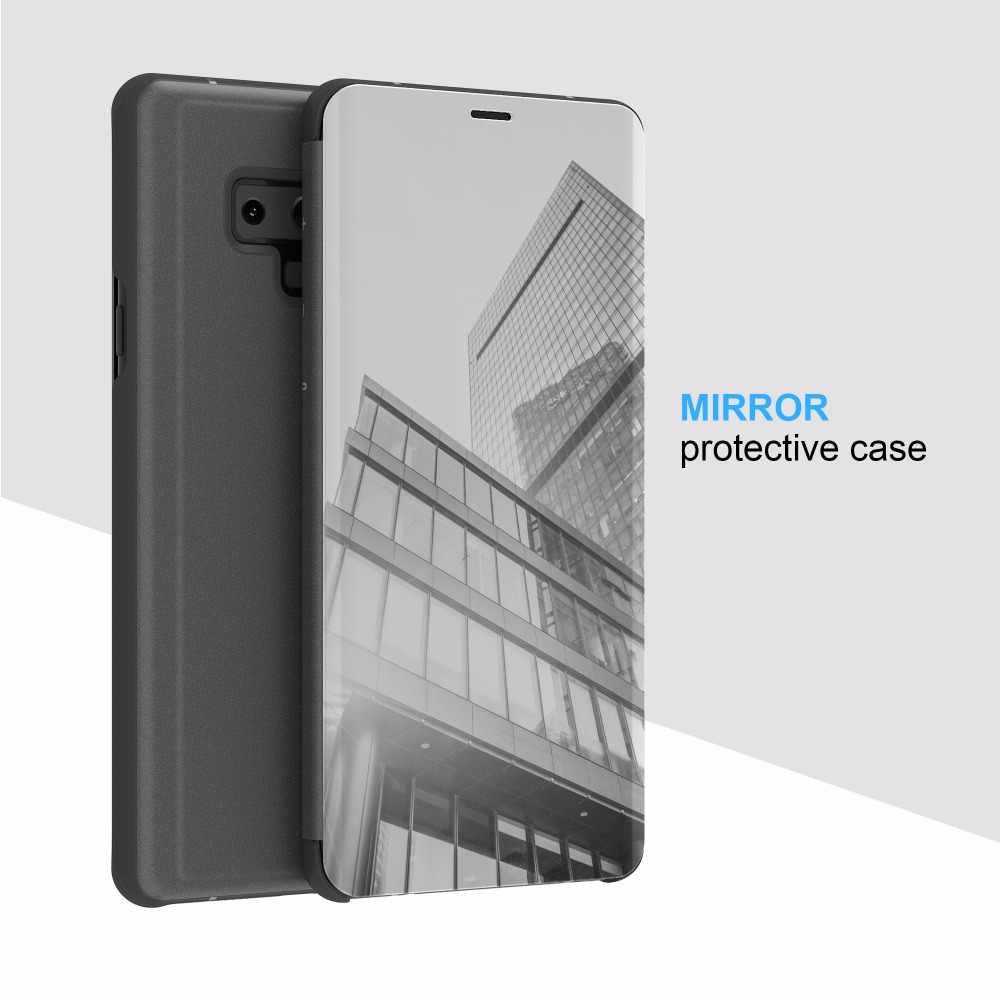 Thông Minh Kính Chiếu Bao Da Dành Cho Samsung Galaxy Samsung Galaxy A7 2018 J4 J6 Plus Thủ Cấp Kiểu Ốp Lưng Dành Cho Galaxy A750 note 9 S9 Lưng