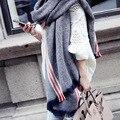 Autumn winter spring lady imitation cashmere pashmina stripe retro art thickening and warm scarf hight quality men women sca