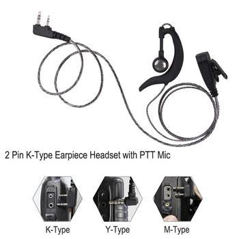 2 Pin Tipo K Fone de Ouvido Fone de Ouvido com PTT MIC Walkie Talkie Fone de Ouvido Fone de Ouvido para Kenwood BAOFENG Rádio de Alta Qualidade 1