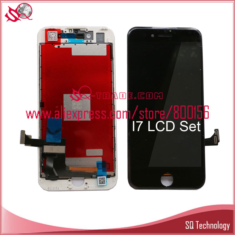 Black and white Color 4.7'' Lcd screen for iPhone 7 7G LCD Display with Digitizer Touch Screen Assembly free shipping