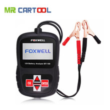New Arrival FOXWELL BT100 12V Car Battery Tester for Flooded, AGM, GEL BT 100 Battery Analyzer CCA Free Shipping