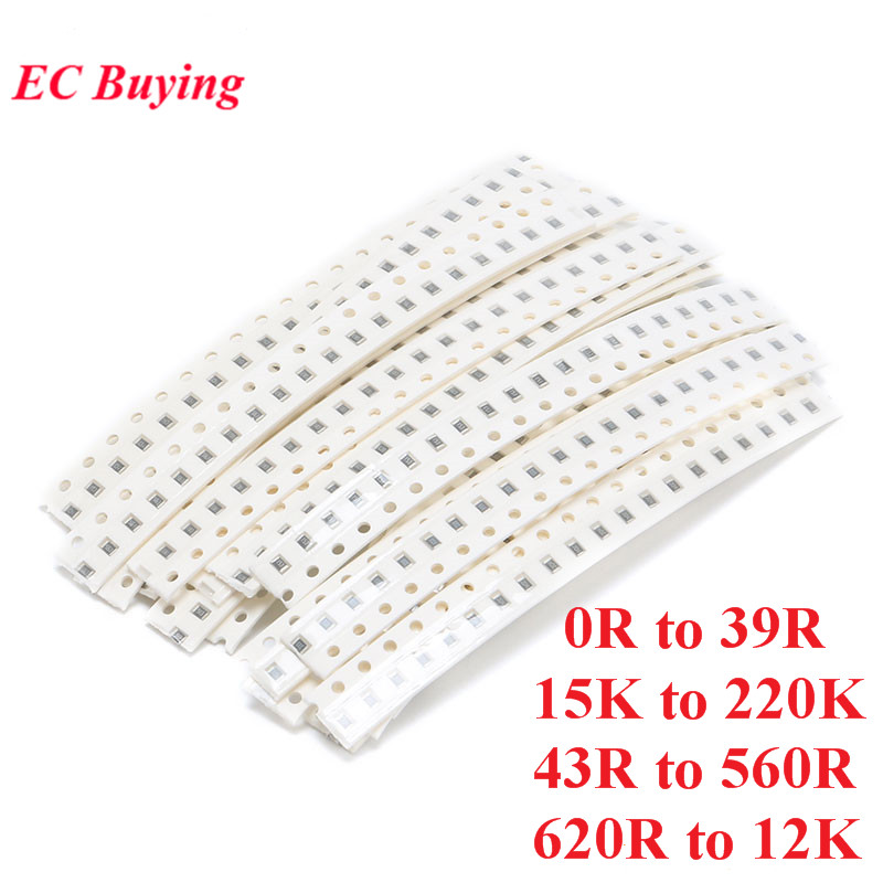 500pcs 0603 SMD Resistor Kit Assorted Kit 5% Sample Kit Sample Bag 25 Values*20pcs Electronic Component