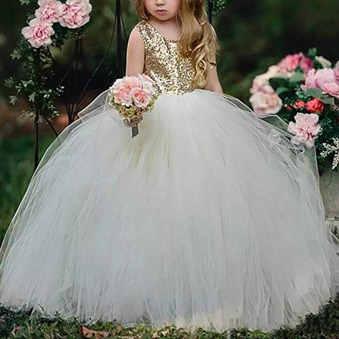 Long Sleeve Sequins High Low O-neck   Flower     Girl     Dresses   For Weddings With Appliques vestido de daminha 2018 Pageant   Dresses