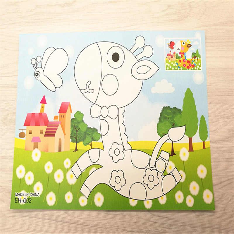 1 шт. DIY бриллиантовые наклейки самоклеющиеся ручной работы граффити приклеиваемые кристаллы живопись образование подарок детские наклейки игрушка Подарочный набор