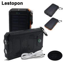 LESTOPON Portable Solar font b Power b font font b Bank b font External Battery DUAL