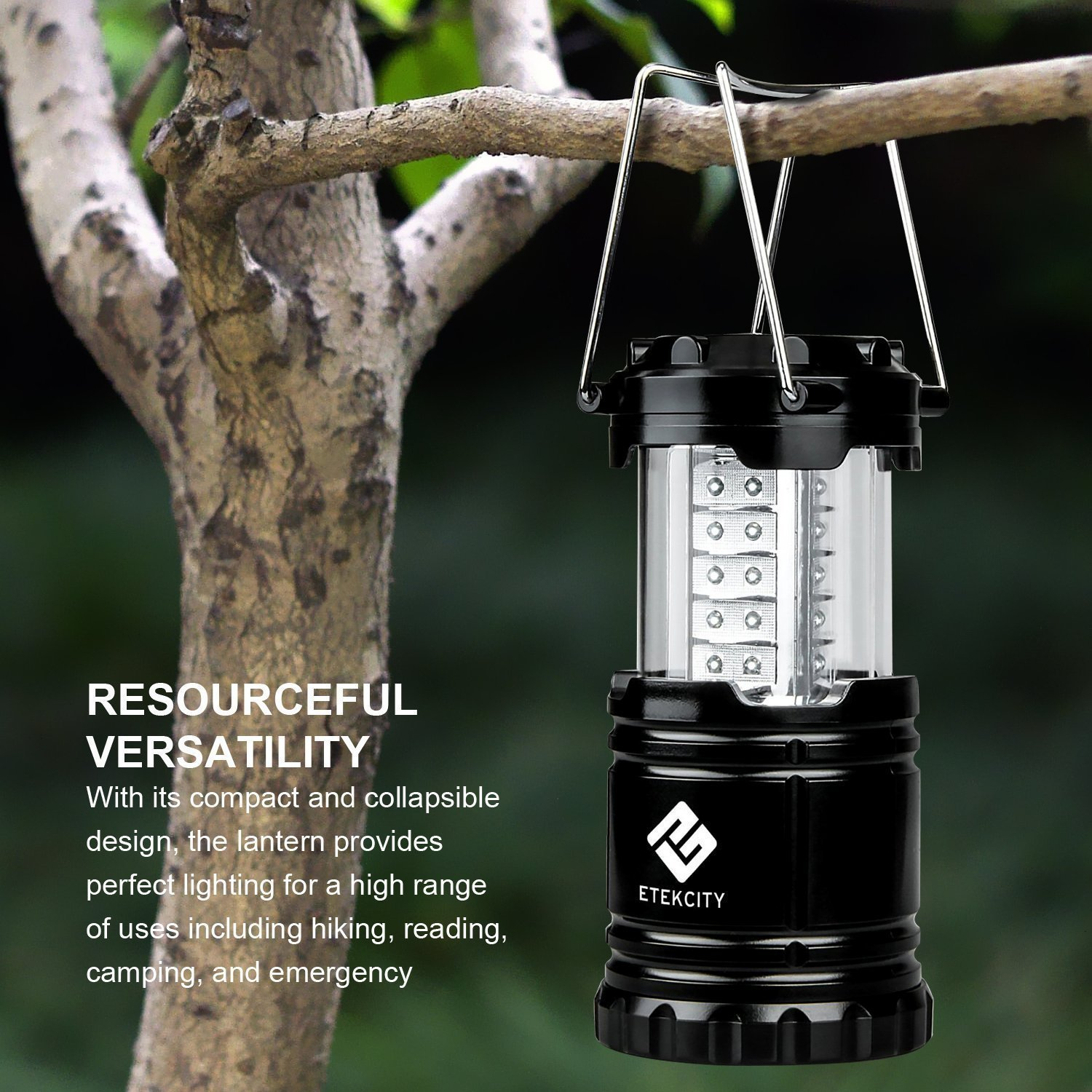 NEW 4 Pack Portable Outdoor Collapsible 30 LED Camping Lantern Bright Tent Lamp