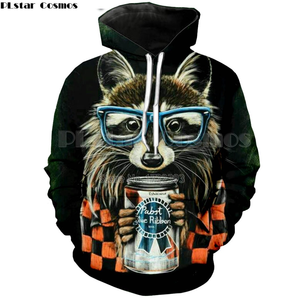 48ba8069d2f0 Detail Feedback Questions about PLstar Cosmos Raccoon hoodie 3d animal  print cute raccoon wear glasses hoodie vibrant women men sweatshirt tops on  ...
