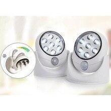 ABS Mode Super Helle 360 Grad Nacht Licht Drehbare Außen Automatische Induktion LED Lampe Motion Sensor Nachtlicht veranden