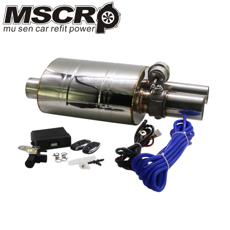 "Image 2 - Stainless Steel 2.5"" Straigh Outlet Tip 2.5""Inlet Weld On Single Exhaust Muffler with different sounds/Dump Valve Exhaust Cutout-in Mufflers from Automobiles & Motorcycles"