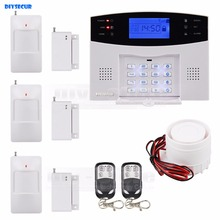 DIYSECUR 433MHz Wireless/wired Defense Zones Gsm Sim Alarm System Motion Sensor Defector