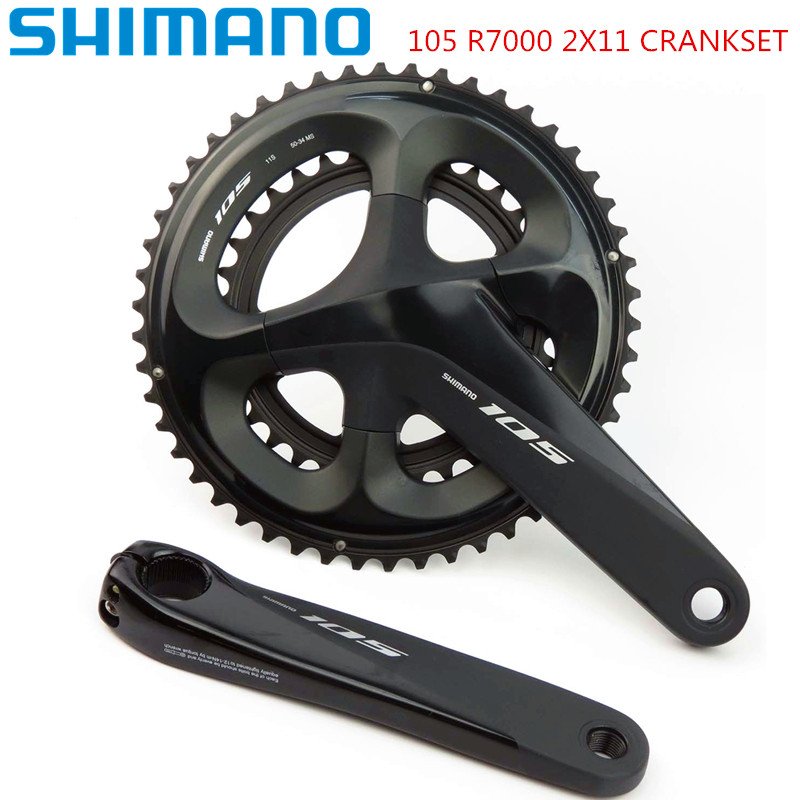 Shimano 105 R7000 2x11 speed 170/172.5mm 52-36T 53-39T 50-34T Road Bike Bicycle Crankset without BB Update from 5800Shimano 105 R7000 2x11 speed 170/172.5mm 52-36T 53-39T 50-34T Road Bike Bicycle Crankset without BB Update from 5800