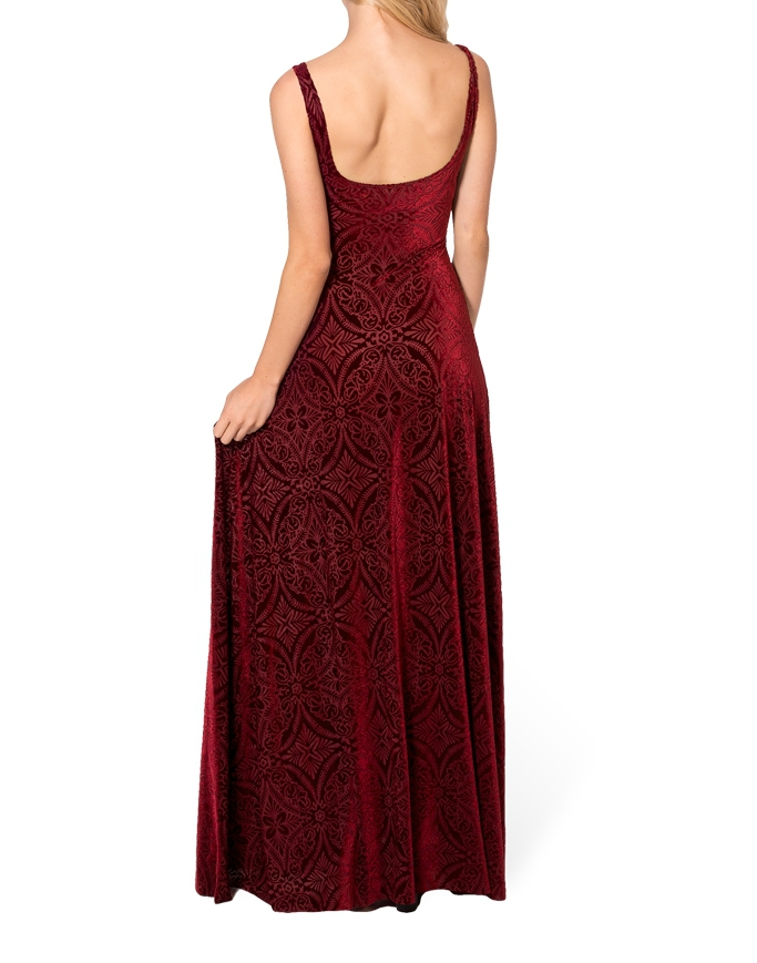2015 Winter Dress Women Gown Long Elegant Prom Dresses Burned Velvet Maxi  Dress Long Dresses Plus Size women clothing XXXL-in Dresses from Women s  Clothing ... f2c9dbca0