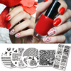 5Pcs Flower Series Stamping Template Set Round Square Rectangle Nail Art Stamp Image Plate Kit