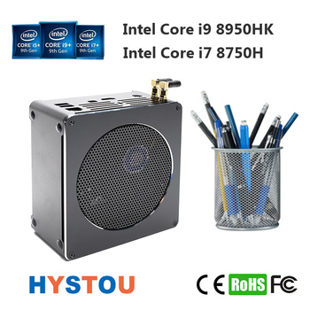 Intel i9 8950HK Xeon E-2176M Desktop 6 Core 12 Thread fan Mini PC Windows 10 Pro HDMI mini DP WiFi BT gaming computer I7 8750H