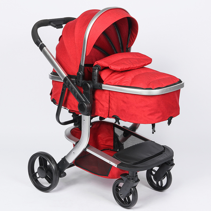 High Landscape Newborn Baby Stroller 3 In 1 with Car Seat Travel System Convertible Pushchair Sleeping Basket Car Safety Seat цена