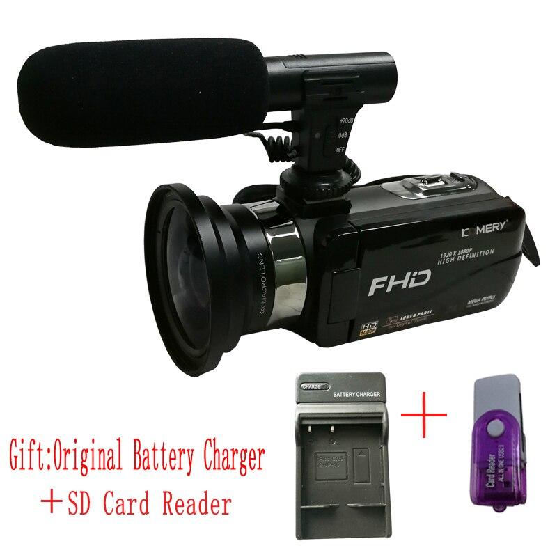 KOMERY nouveautés caméra vidéo caméscope 3.0 pouces IPS HD écran tactile réel 1080 P prise en charge télécommande caméra d'origine - 5