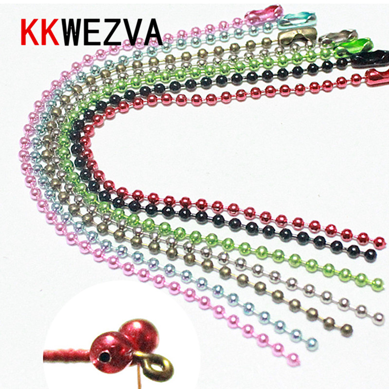 7pcs set dia 2mm colored metal material mini bead chain eyes fish eyes crazy charlie fly fishing lure fly tying materials in Fishing Lures from Sports Entertainment
