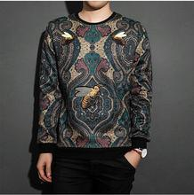 2017 new  brand style embroidery thickened bee sweatershirt paragraph male long sleeved hoodies men and women  PU887