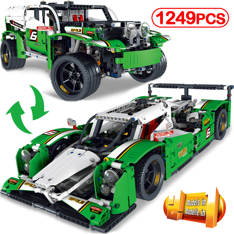 1249pcs/ Formula Racing Car DIY Technic Series Race Model Legoinglys Blocks Compatible Children's Gift Educational Toys цена