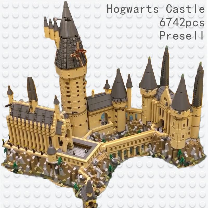 Lepin 16060 Harry Movie Series The Legoinglys 71043 Hogwarts Castle Set Building Blocks Bricks House Model Christmas Kids Toys