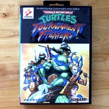 Turtles Tournament Fighters 16 Bit MD Game Card with Retail Box for Sega MegaDrive & Genesis Video Game console system
