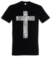CHRISTIAN CROSS II T-SHIRT Dios Jesus Christianity God Gott Christus 2018 Short Sleeve Cotton T Shirt  Man Clothing