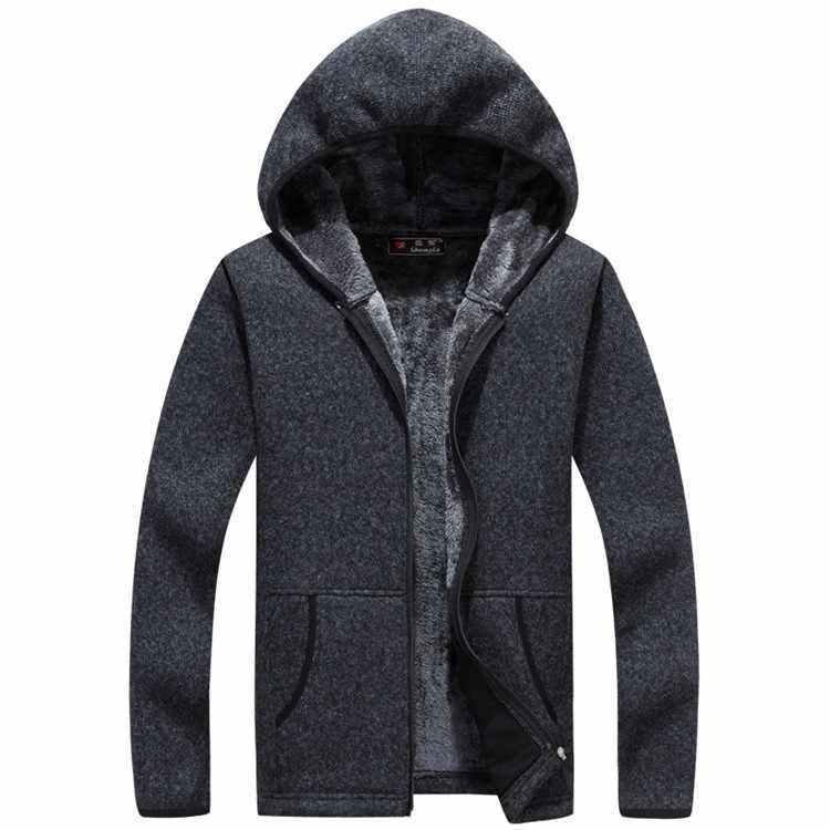 Männer Pullover Winter Warme Dicke Samt Sweatercoat einreiher Casual Strickjacke Männer Pullover Muster Strickwaren 3XL
