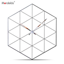 Mandelda Wall Clock Abstract Modern Design 12 Inches Home Decoration Accessories Wallclock for Living Room Silent