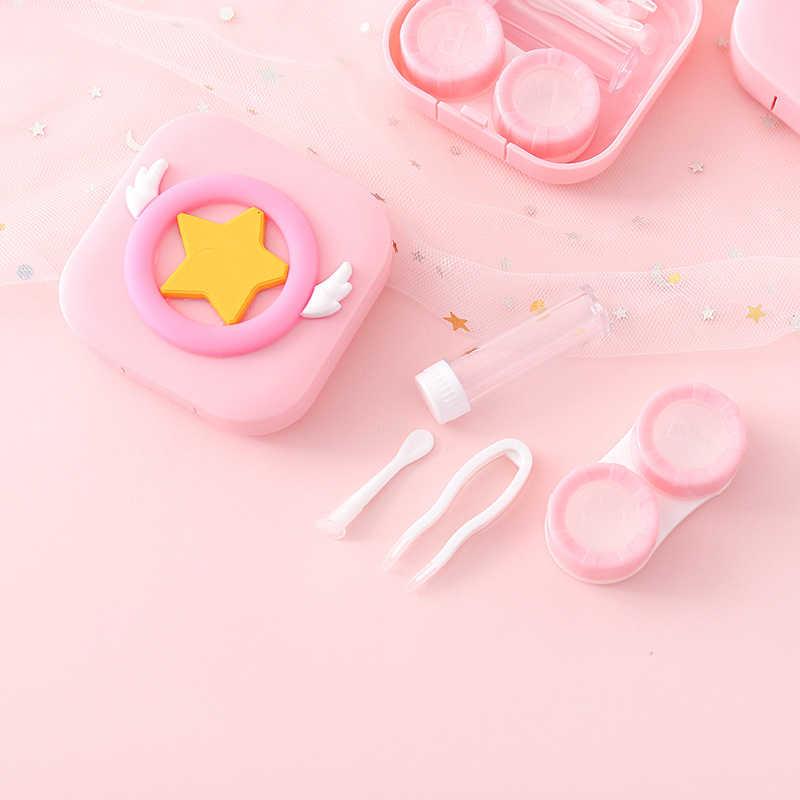 Rosa Unsichtbare Brille Fall Candy-farbige Fall Tragbare Mini Storage Box Mit Spiegel Langlebig Sicher Mehrere Wahl