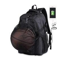 Sport Men Basketball Basketball Backpack School Bag For Teenager Boys Soccer Ball Pack Laptop Bag Football Net Gym Bags Male