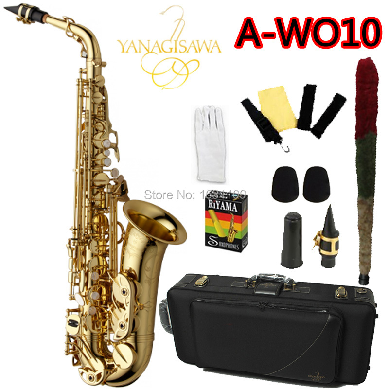 Brand NEW YANAGISAWA Alto Saxophone A WO10 Gold Lacquer Professional Sax Mouthpiece With Case and Accessories