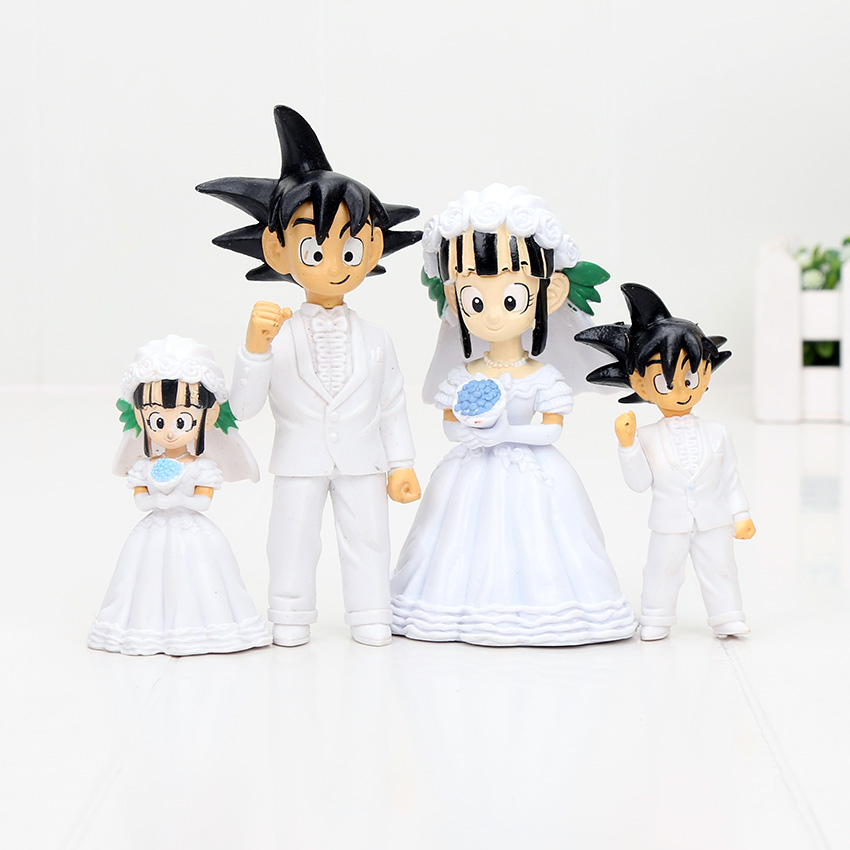 Dragonball Z Collectibles Goku Chichi Wedding Cake Topper Dragon Ball Z Dbz Pvc Figure Toys Gifts 2pcs Set Japanese Anime Collectibles