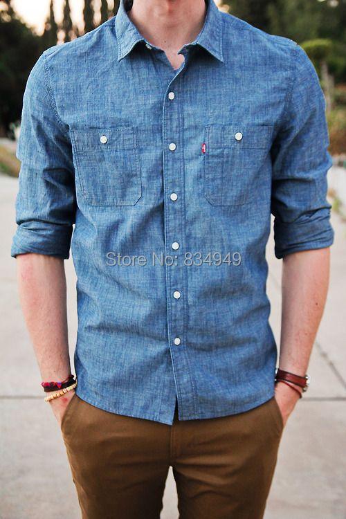 Custom Made Blue Denim Dress Shirt,Bespoke The GQ Guide To Business Casual Shirt