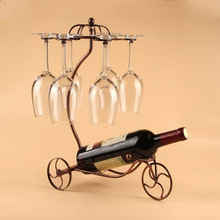 Upgrade Large vintage iron wine rack Red Wine Bottle Glasses Holder Hanging Upside Down Cup Goblets Display home decor,14 styles