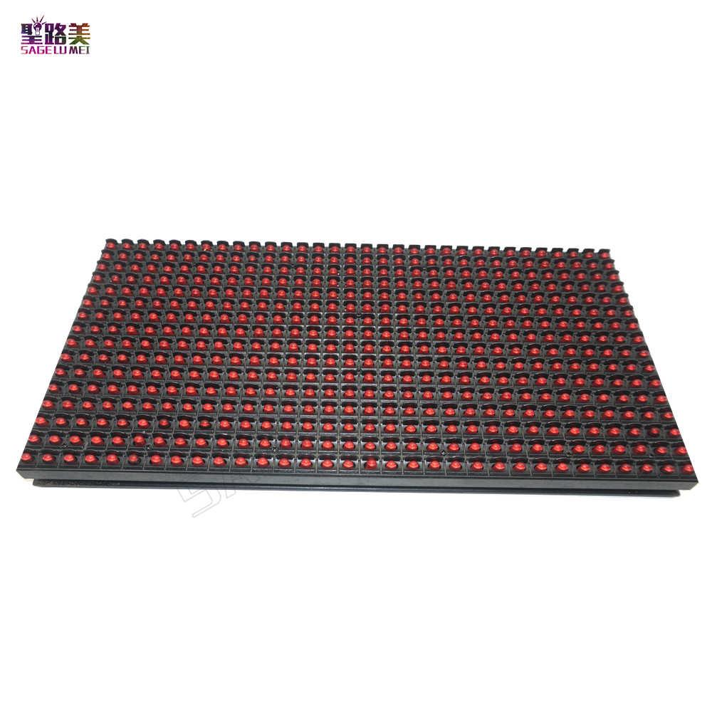 P10 LED وحدة عرض لوحة علامة النافذة متجر علامة خارج الباب IP65 320*160 مللي متر 32*16 بكسل RGB كامل لون/لون واحد مصفوفة DIY