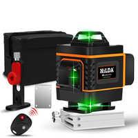 Livello del Laser 16 linee linea verde 4D Self-Leveling 360 Orizzontale E Verticale Super Potente livello del Laser verde Fascio livello del laser