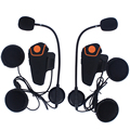2 pcs FM Motorcycle Intercom A2DP BT Bluetooth Wireless Waterproof Interphone Helmet Headset Earphone New BT-S2