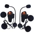 2 pcs FM Motorcycle Intercom A2DP BT Bluetooth Wireless Waterproof Interphone Helmet Headset Earphone New BT-S2