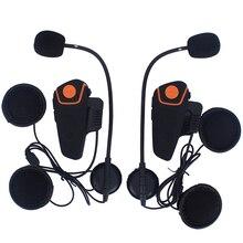 2 шт. FM Мотоцикл Домофон BT A2DP Bluetooth для Беспроводной Водонепроницаемый Домофон Шлем Гарнитура Наушники Новый BT-S2
