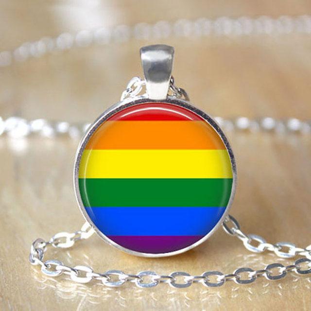 Online Shop Jephne Lgbt Ally Necklace Lgbt Awareness Lesbian Gay