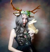 Fasce dei capelli rifornimenti del partito di festa regalo di natale decorazioni renna antlers ragazze costume fascia delle donne