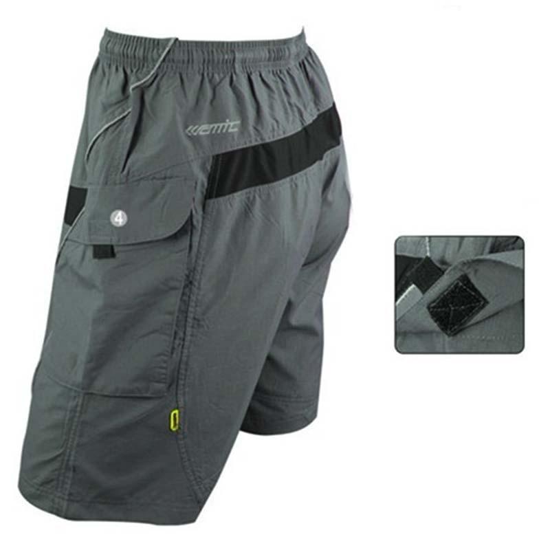 SANTIC Mens mtb Cycling Shorts MTB Loose Fit Baggy Shorts with 3D ...