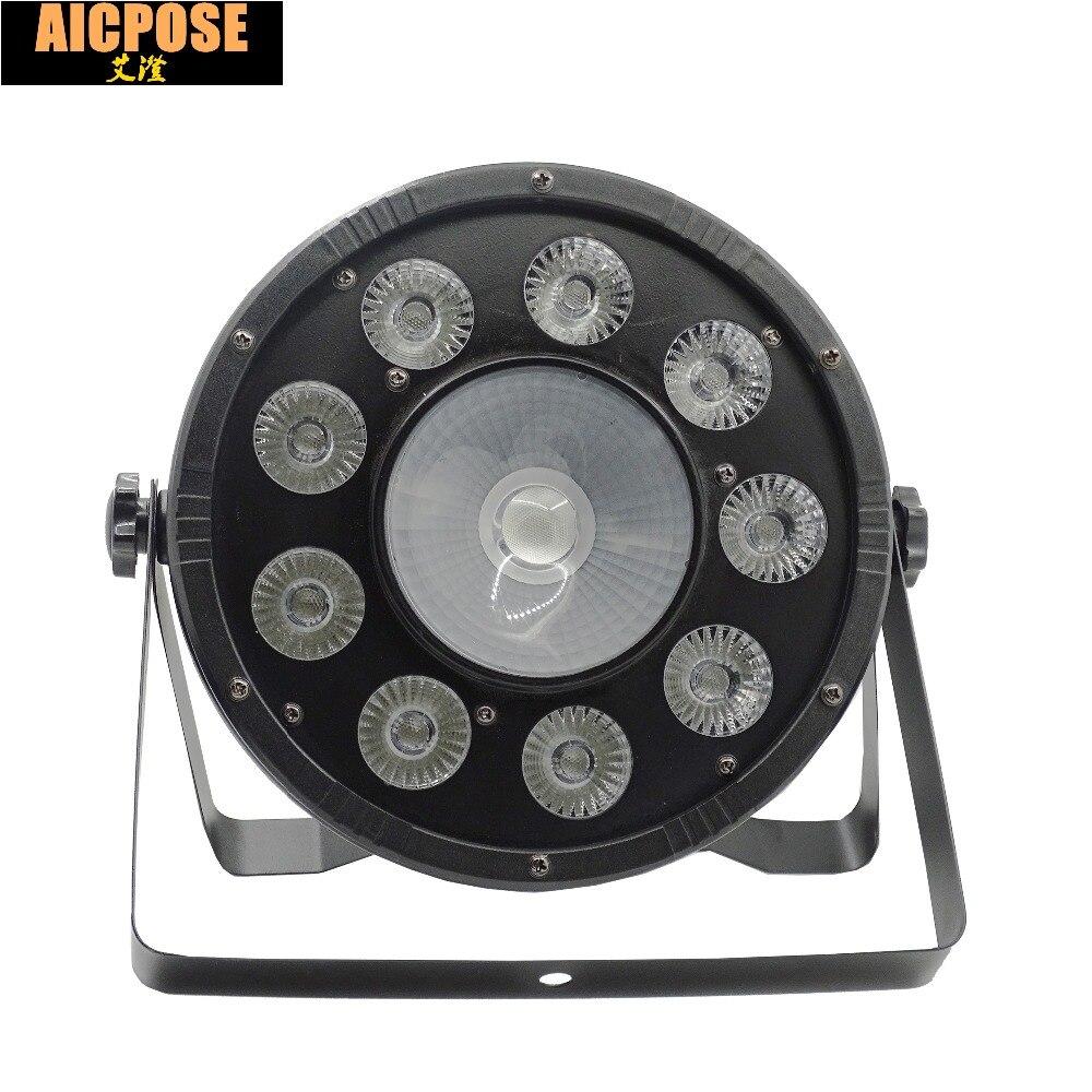 25 Degrees 9x10W+30w Flat LED Par Lights  9*10w+30w RGBW 3IN1 PAR DMX512 control disco lights professional stage DJ equipment
