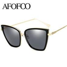 Afofoo moda gato ojo Gafas de sol mujer de lujo marca diseñador gradiente Sol  Gafas UV400 sombras oculos gafas de sol 7637586d86