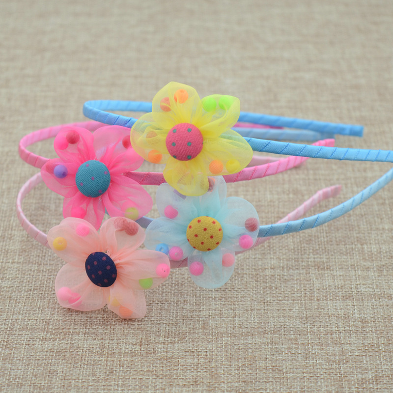 New Sweet girls beautiful Chiffon princess flowers hairband headpieces  accessories Tiara for childrens Headwear