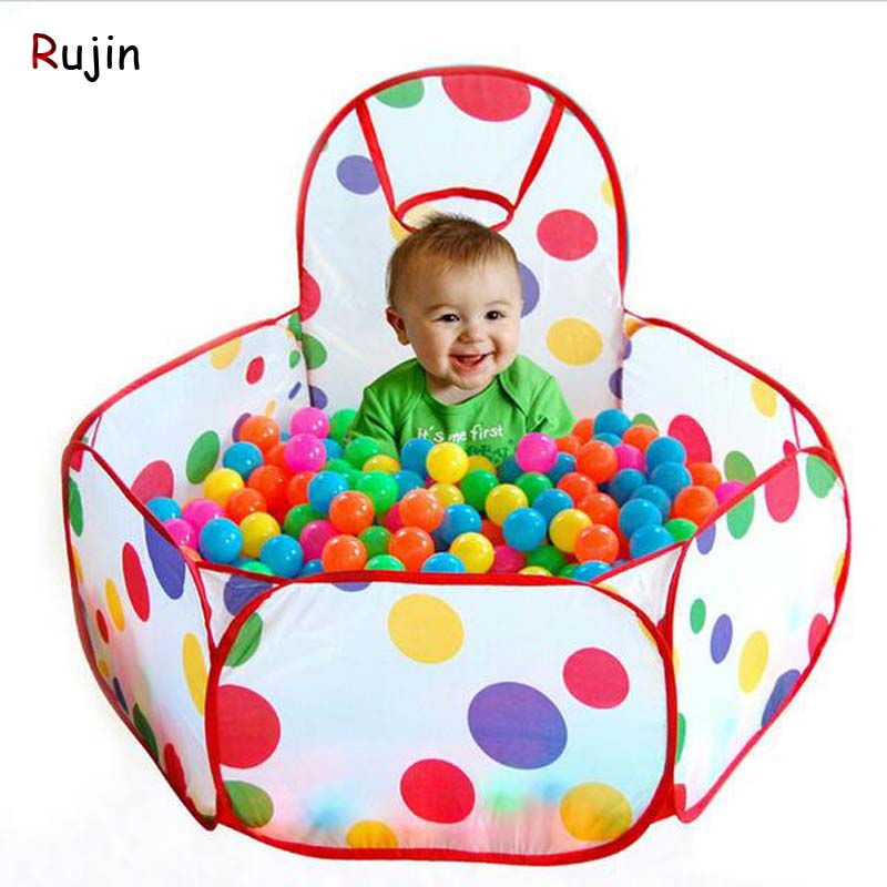 1M Folding Kids Ocean Ball Pit Pool Child Game Play Tent Seaballs Ball Hoop In/Outdoor Playing House Playpen Balls Pool