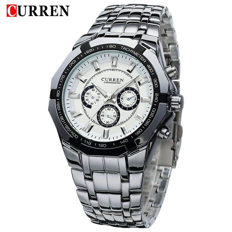 New CURREN Watches Men Top Luxury Brand Fashion Design Military Sports Wrist watches Men Digital Quartz Men Full Steel Watch Hot customs 5 seats 1 set car floor mat leather waterproof front