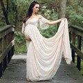 Платье со шлейфом для беременных, реквизит для фотосессии, платье для фотосессии, Кружевное платье макси